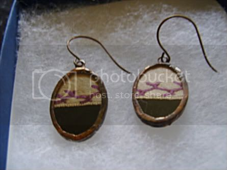 Plum Preserves Crazy Quilt earrings