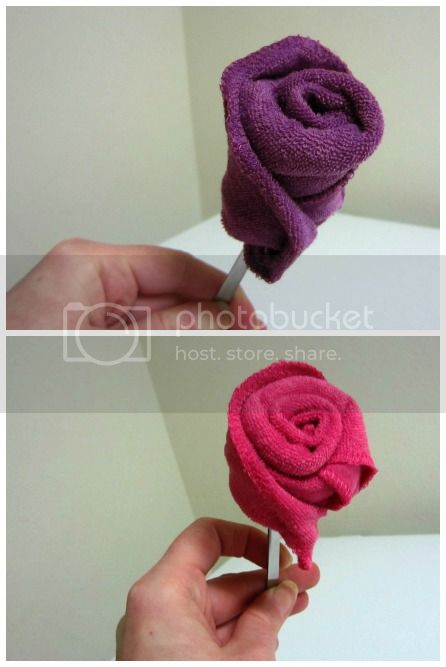 wash cloth roses